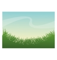 Green grass plant design vector image