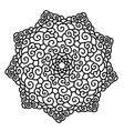 Hand drawn monochrome star Mandala isolated on vector image