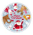 merry christmas image vector image