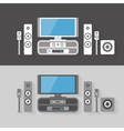 Modern Home Cinema Entertainment with two color vector image