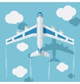 Picture of a civilian plane with clouds vector image