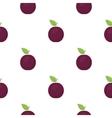 Plum icon cartoon Singe fruit icon vector image