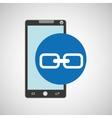 smartphone programming web link vector image