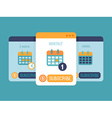 Subscription business model vector image