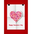 Valentine love background with a white sheet of vector image