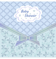 Blue baby shower vector image vector image