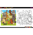 dog characters for coloring vector image vector image