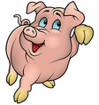 Smiling Pink Piggy vector image vector image