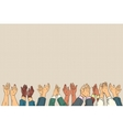 Applause hands up in business conference vector image