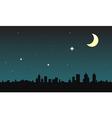 city moon vector image vector image