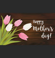 greeting card with tulip flowers vector image vector image