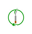 electrical cigarette for healthy vector image