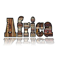 Africa with tribal elements vector image
