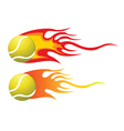 Tennis ball flying through air vector image vector image