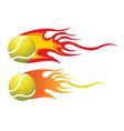 Tennis ball flying through air vector image