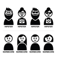 Hipster and normcore trend style - man and woman vector image