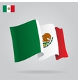 Flat and waving Mexican Flag vector image vector image