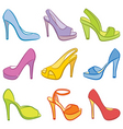 colorful shoes vector image