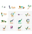 Set of tick ok cloud or arrow concept icons vector image