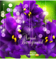Background with romantic violets vector image
