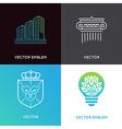 set of logo design templates and emblems - vector image