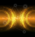 dark yellow abstract backgroud vector image vector image