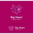 creative heart shape logo Crystal heart vector image