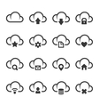 Data Cloud with Different Signs Icon Set vector image