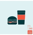 Fast food icon isolated vector image