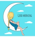 Good morning greeting card vector image
