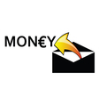 money letter envelope arrow vector image