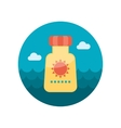 Sunscreen flat icon vector image