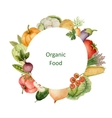 Watercolor painted organic vegetables vector image