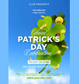 st patrick s day green beer party invitation vector image