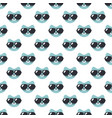 seamless pattern with cats with sunglasses vector image