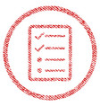 checklist page fabric textured icon vector image