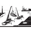 construction of industrial plant vector image