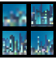 Set of abstract blur night city backgrounds vector image vector image