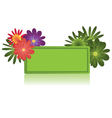floral sign vector image vector image