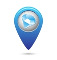 Map pointer with jewel icon vector image
