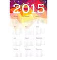 calendar 2015 triangles vector image