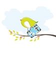 bird in island vector illustration vector image
