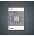 flyer or banner Brochure template design vector image