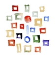 Abstract watercolor hand painted design elements vector image