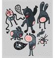 spooky cartoons vector image vector image
