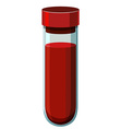 Human blood in test tube vector image