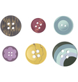 Plastic buttons vector image vector image