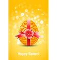 golden egg easter vector image vector image