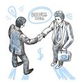 handshake of 2 peoples vector image