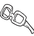 simple black and white glasses vector image vector image